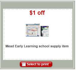 mead coupon Mead Flashcards only $0.79 at Target!