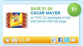 oscar mayer coupon Oscar Mayer Hot Dogs only $0.94 at Target!