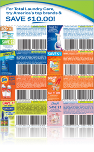 proctor gamble laundry coupons Proctor & Gamble Laundry Coupon Booklet with $10 Worth of Savings!