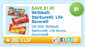 skittles Free Skittles or Starburst Bags (14 0z.) At CVS