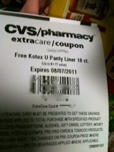 U by Kotex scanner 225x300 CVS: FREE Box of U by Kotex Panty Liners (18 count)