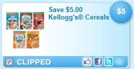 kelloggs cereal coupon *HOT* Kelloggs Coupon $5 off 5