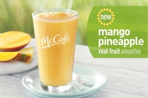 MangoPineappleSmoothie1 0 300x199 McDonalds Free Smoothie Coupon in Sundays USA Weekend Insert