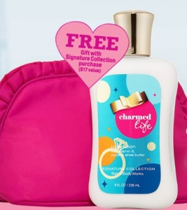 Bath & Body Works: FREE Charmed Life Full Size Lotion and Cosmetic bag on 8/13 ONLY!!!