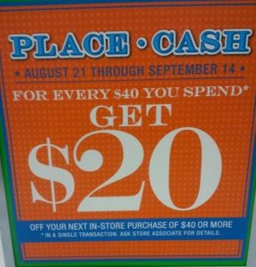 childrens place 288x300 The Childrens Place: $20 Place Cash for Every $40 You Spend!
