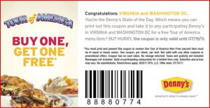 dennys 300x154 Dennys Buy One Get One Free Coupon