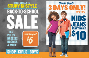 old navy bts sale 300x197 Old Navy Back to School Sale! Boys & Girls Jeans $10 + Super C A S H!!