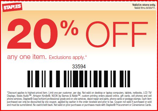 Staples coupons at replieslieu.ml for December 6, Find the latest coupon codes, online promotional codes and the best coupons to save you $20 off at Staples. Our deal hunters continually update our pages with the most recent Staples promo codes & coupons for , so check back often!