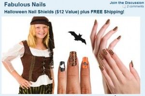 fabulous nails halloween 300x199 Free Halloween Nail Shields from SaveMore After Credit!