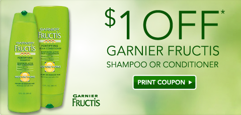 graphic relating to Garnier Printable Coupon called $1 off Garnier Fructis coupon!