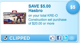 kre o printable coupons $5 off KRE O Construction Coupon