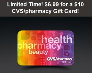on sale cvs gift card $10 CVS and/or Subway Gift Card for only $6.99