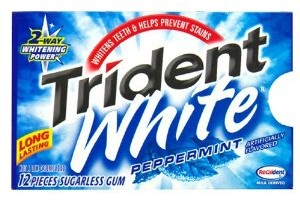 trident white Trident White Peppermint Gum only $0.47 per Pack Shipped