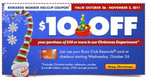 Big Lots Christmas 300x159 Big Lots: $10 off $50 or More Purchase in the Christmas Dept