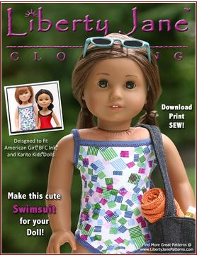 American Girl Doll Clothes Patterns Summer Dress - YouTube