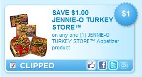 jennie o coupon $1 off Jennie O Turkey Store Appetizer Coupon