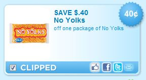 no yolks coupon $0.40 off No Yolks Pasta Coupon!