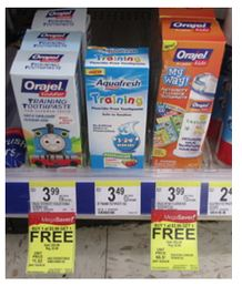 orajel Orajel Training Toothpaste only $0.99 at Walgreens!