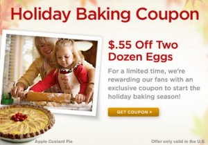 holiday coupon 300x210 $0.55 off Eggs Coupon!