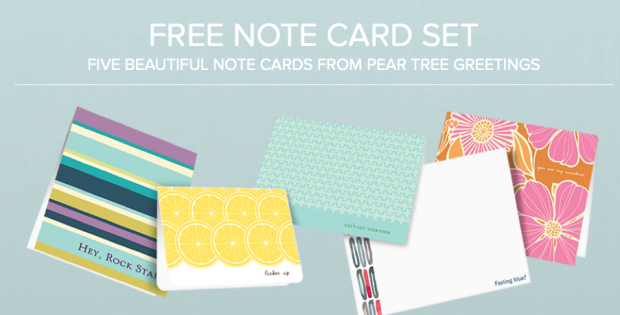 Hot pear tree greetings 5 free note cards free shipping hurry here is a hot freebie from pear tree greetings m4hsunfo