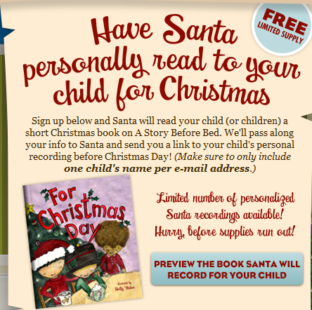 santaread Free Book Reading from Santa