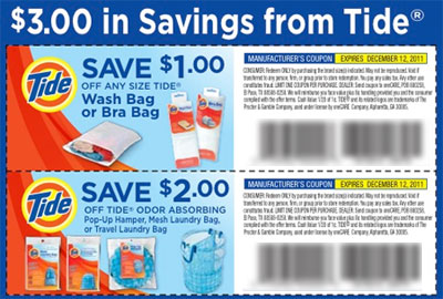 tide coupon Tide: $3 in Tide Savings (Coupons Mailed)