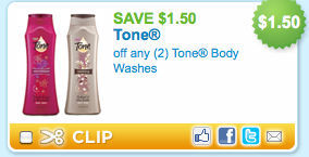tone *HOT* $1.50/2 Tone Body Wash Coupon