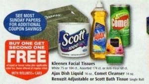 rite aid scott 39 s single roll toilet paper only 20 cents. Black Bedroom Furniture Sets. Home Design Ideas
