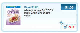 cheerios multigrain coupon $1 off MultiGrain Cheerios Coupon
