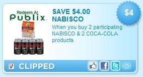 publix coupon nabisco coke $4 off Nabisco & Coke Publix Coupon