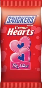 snickers creme hearts 144x300 Free Snickers Creme Hearts at Walgreens