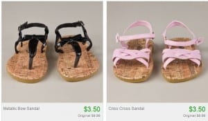 totsy sandals 300x175 Totsy: Spring Shoes as low as $3.50 Shipped!