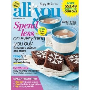 all you magazine cover 12 Issues of All You Magazine only $12!
