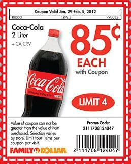 picture relating to Coca Cola Printable Coupons named Coca-Cola 2 Liters Simply just $.85 at Relatives Greenback