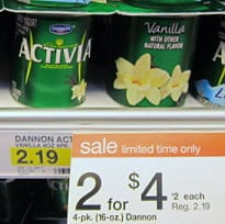 dannon activia sale at target Dannon Activia Free at Target!