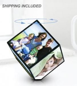 photo cube 270x300 $12 for a VIBE 360 Spinning Photo Cube + Free Shipping!