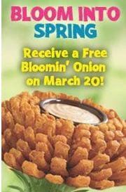 Outback Free Bloomin Onion on March 20 2012 Free Bloomin Onion at Outback on March 20th!!!