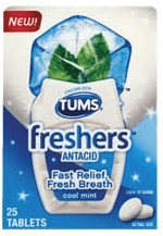 Tums Cool Mint Freshers Tums Cool Mint Freshers Just 24¢ at Target!