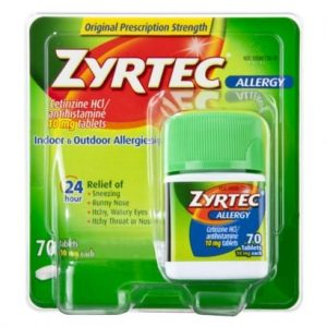graphic relating to Zyrtec Printable Coupon named Zyrtec Allergy Medications $10 off Printable Coupon