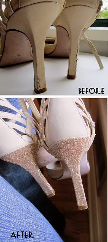 glitter before DIY: How to Save Your Scuffed Up High Heels!