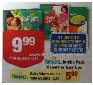 rite aid pampers deal 300x277 Cheap Pampers & Wipes Starting 3/4 at Rite Aid