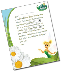 Tink Letter Free Pixie Perfect Fairy Letter from Tink for Your Special Little Girl