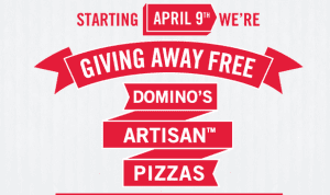 dominos artisian 300x178 Free Pizza at Dominos