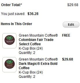 kcup deal K cups only $0.30 ea when you Register your Keurig!