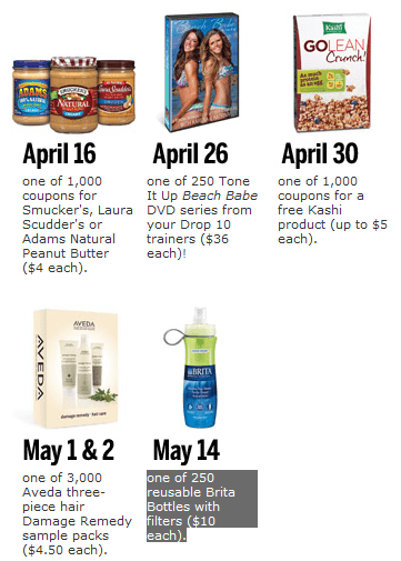 self free Self Magazine Freebies: Free Tone It Up Beach Babe DVD, Kashi, Aveda, Brita Filter Bottles