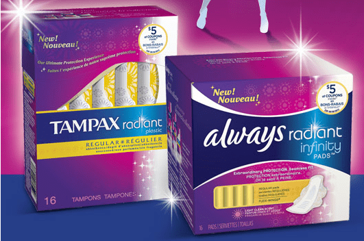 tamp alw Free Tampax Radiant and Always Radiant