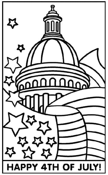 4th of july coloring Free 4th of July Coloring Pages