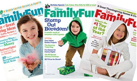 Disney Family Fun1 FREE Subscription to Family Fun Magazine