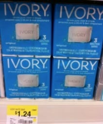 Ivory 3 pack 3 Pack of Ivory Soap Just 24¢ at Walmart!