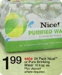 Nice bottled water at Walgreens Nice bottled water at Walgreens
